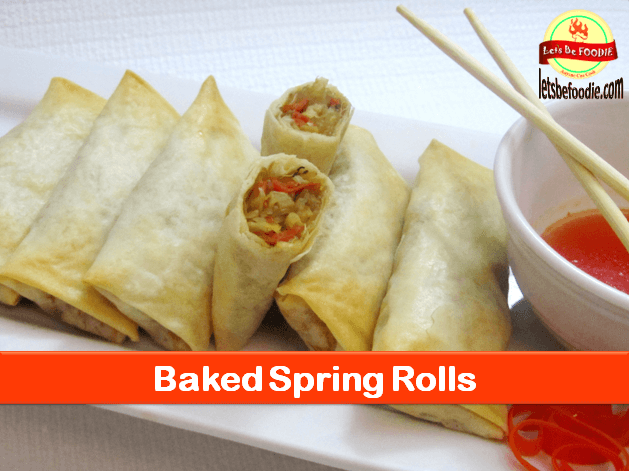 Healthy Baked Spring Roll Recipe